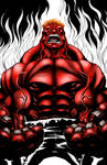 Just for practice Red Hulk