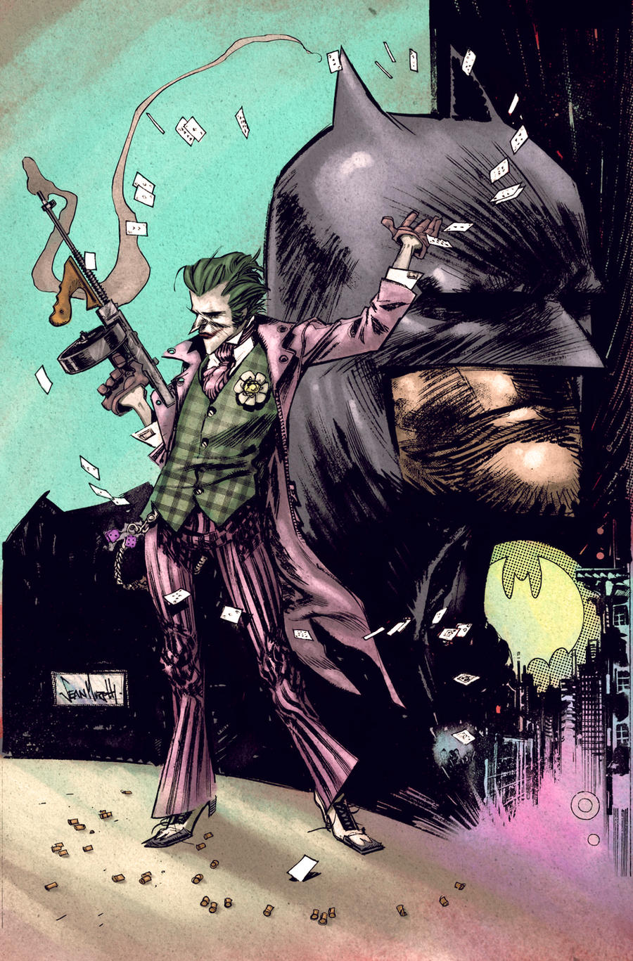 Batman Joker Sean Murphy color by SpicerColor