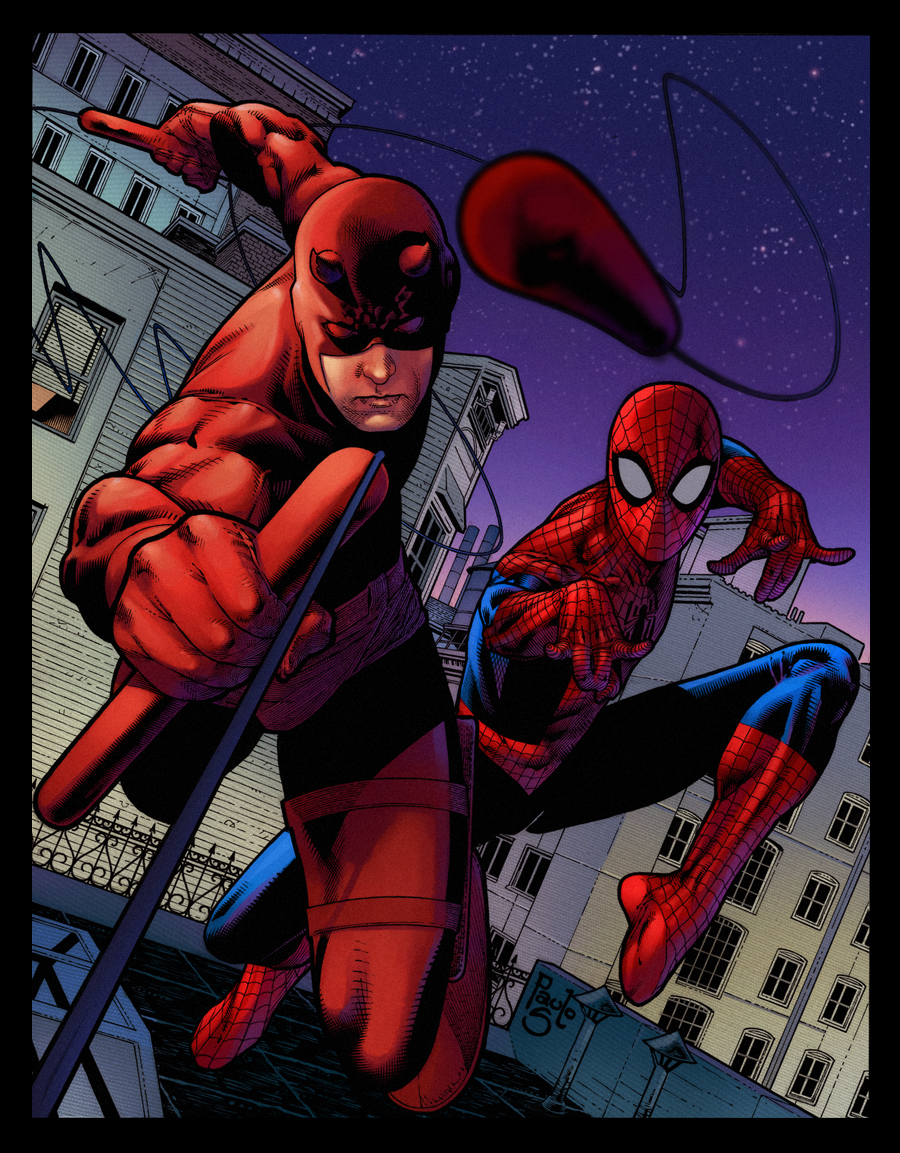 DareDevil  Spiderman Paulo Siqueira by SpicerColor