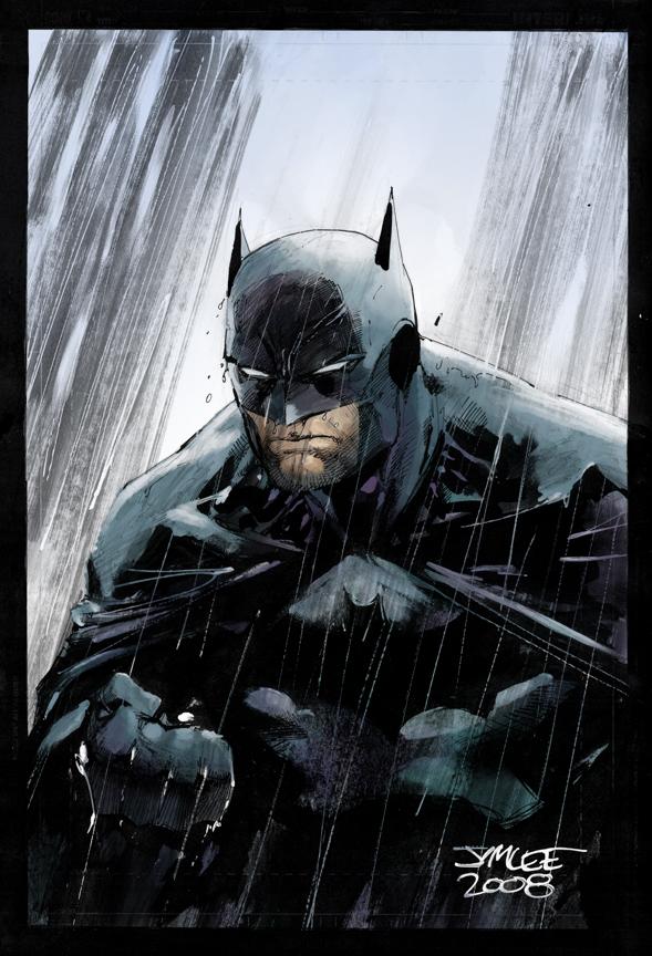 Batman in the Rain jimlee00 by SpicerColor