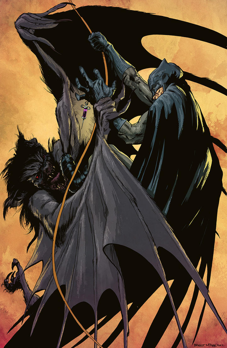 Batman VS Manbat By Brentmckee Colors by SpicerColor