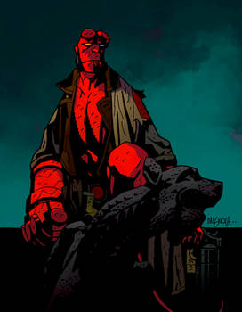 Hellboy on Gargoyle