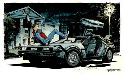 Delorean Pinup By Seangordonmurphy by SpicerColor