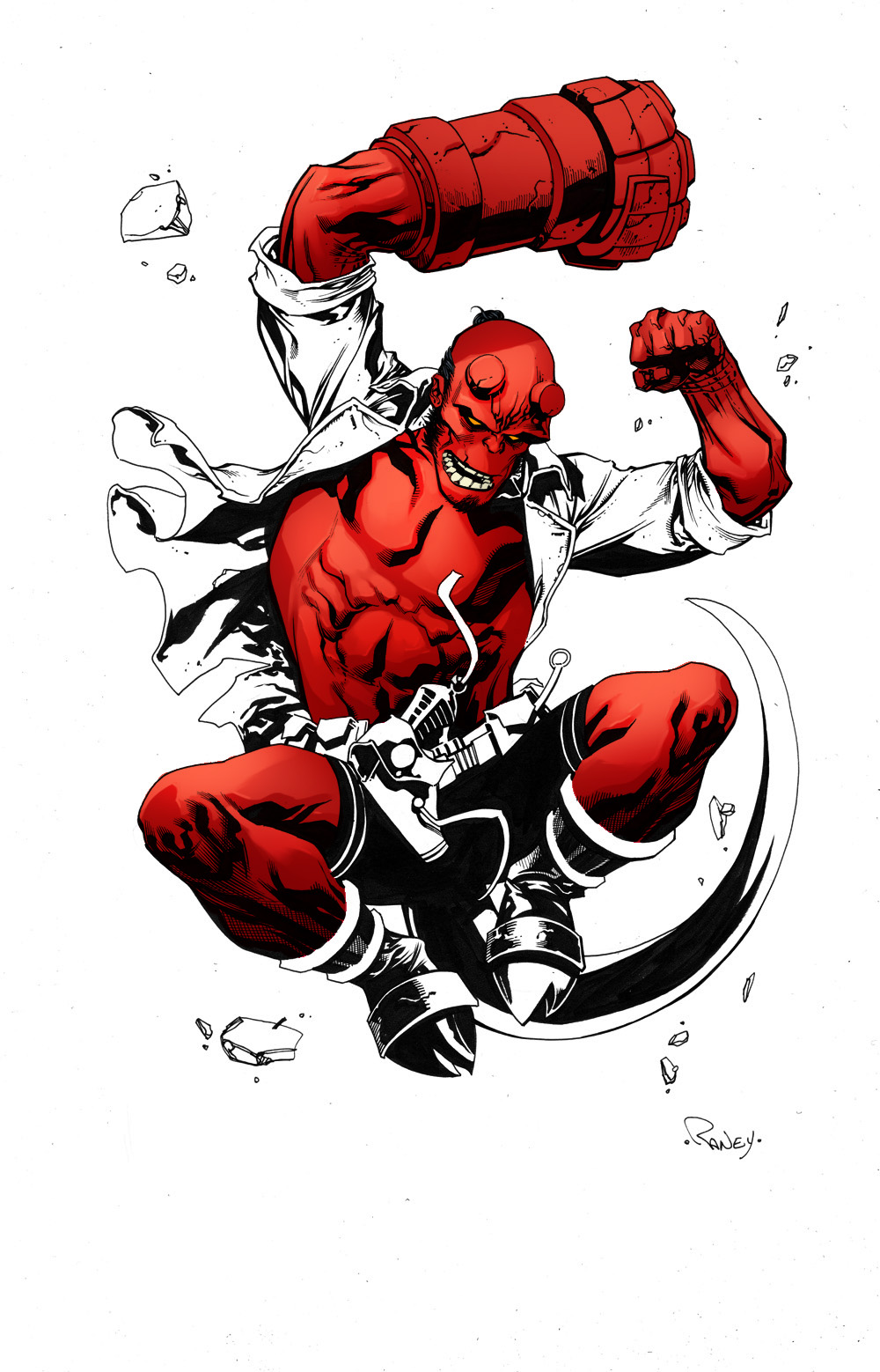 Hellboy By Tom Raney Colors by SpicerColor