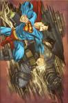 James Harren Bats vs Superman