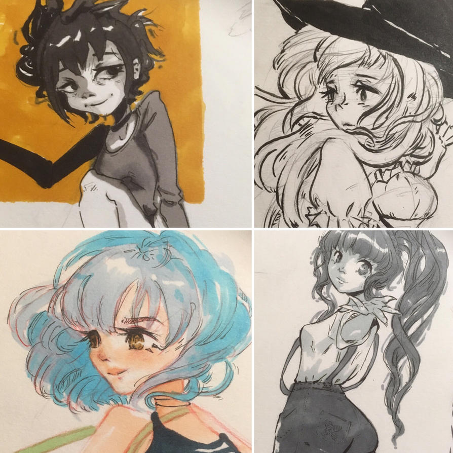 Sketchbook doodles 1 by unuvu