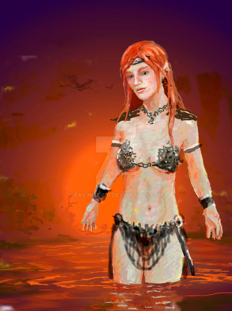 Elven Sorceress by Rav3nf13nd