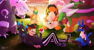 Dream - Pokemon Team Digital Art