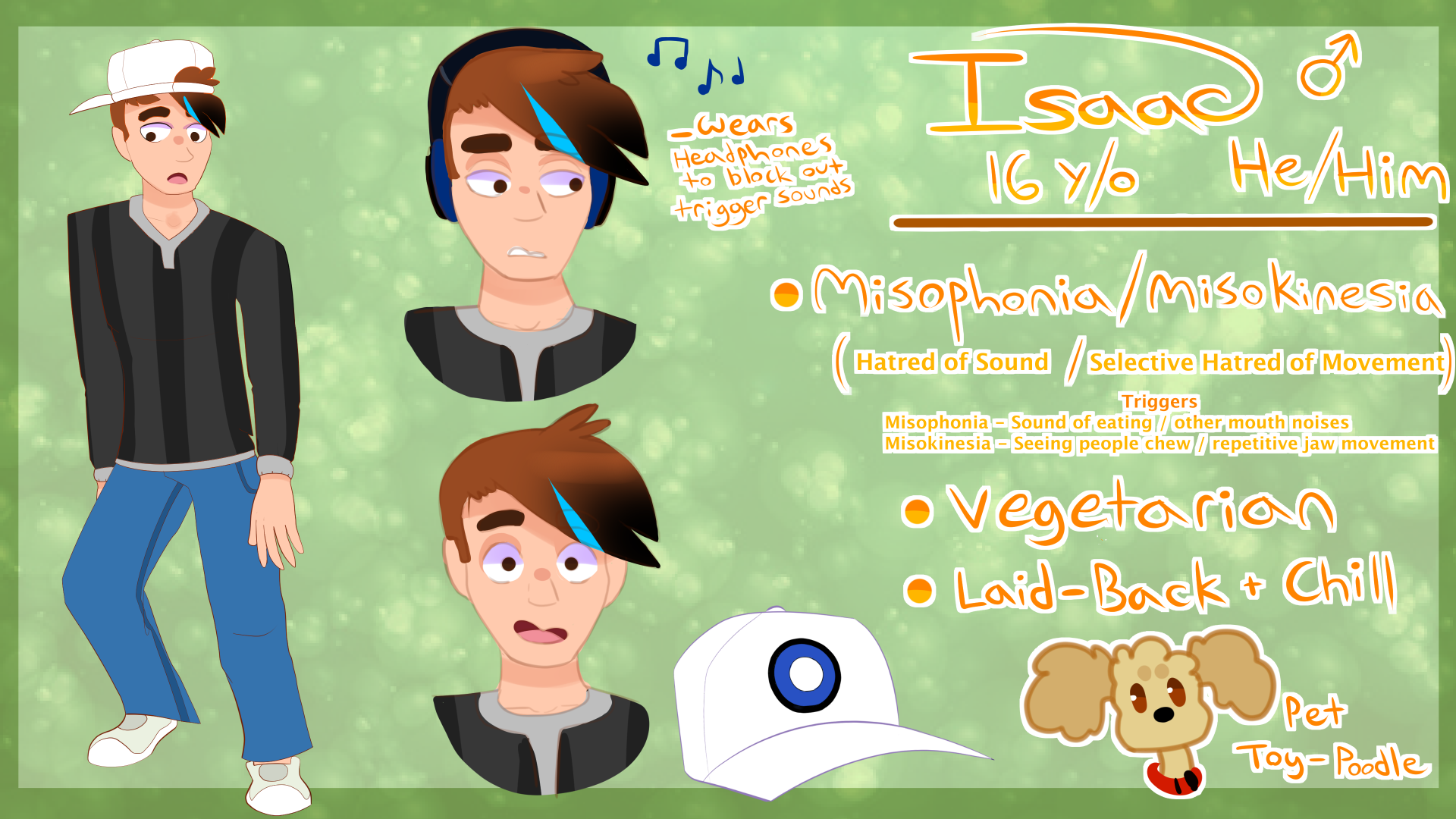 Isaac Persona Ref  Sheet - June 2018 {Current} by Umbraii