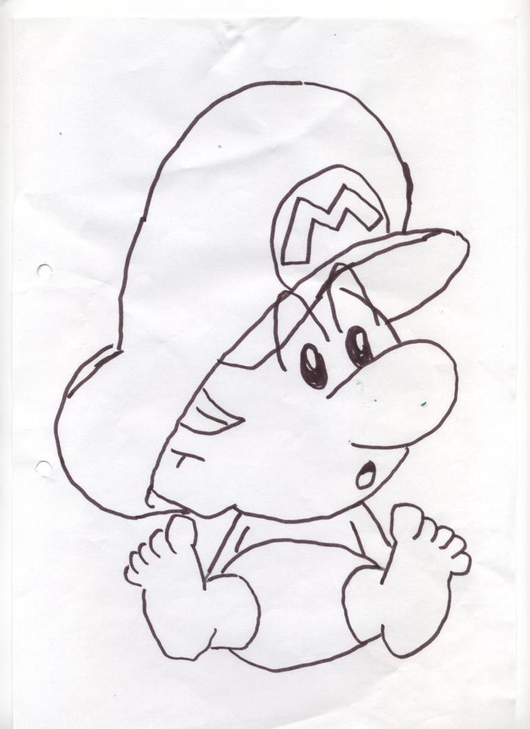 Pin Baby Mario Coloring Pages Free Printable On Pinterest