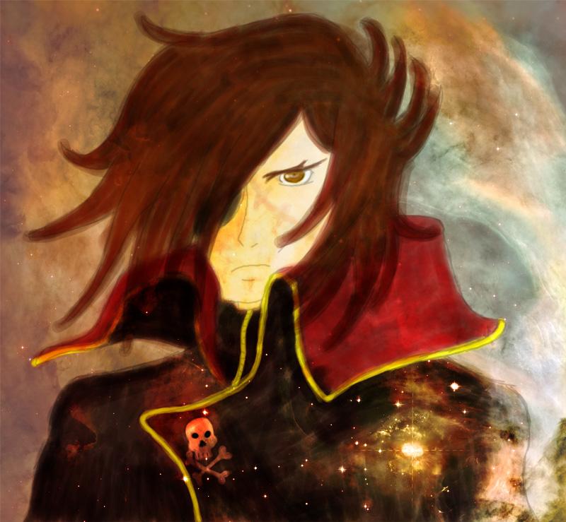 Space Pirate Captain Harlock by LizKun