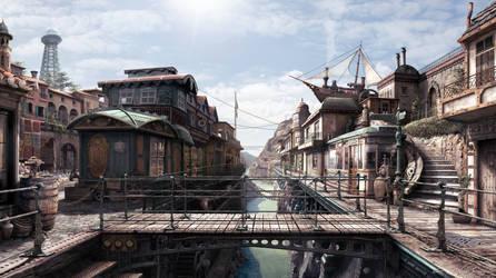 Ravenwood: A Steam Powered Adventure - Main Art by JamesColmer