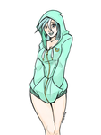 Human Lyra in hoodie