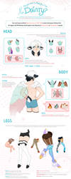 Official Regular MYO Dainty Features Guide by Meirii