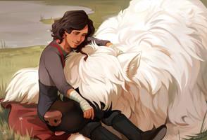 big girl cuddles by Meirii
