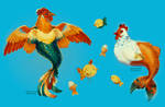 Chickens of the Sea by Meirii