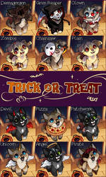 Trick or Treat! - minipup YCH [Closed]