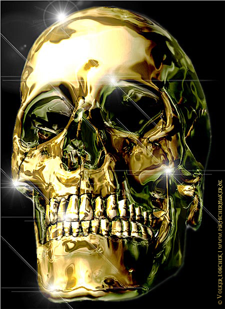 liquid gold skull by blindguard on deviantart. Black Bedroom Furniture Sets. Home Design Ideas