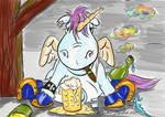 Drunken Unicorn by blindguard