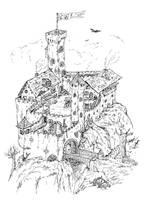 Castle - LineArt by blindguard