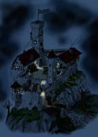 Empty Castle by Night by blindguard