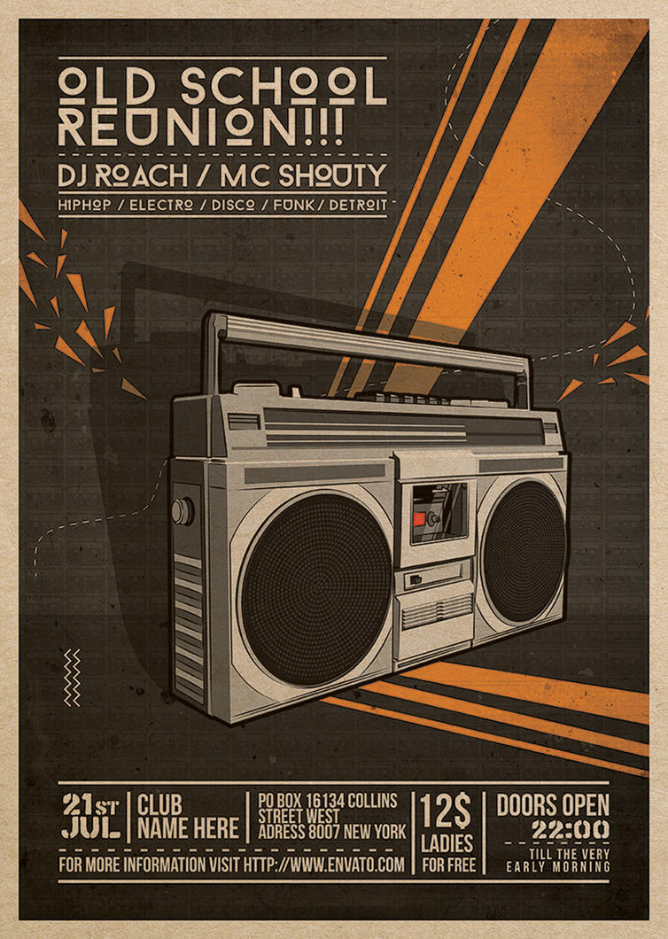 Flyer - Poster: Old School Reunion by blercstudio