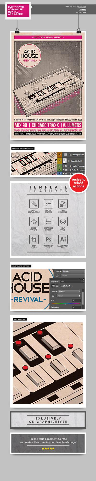 Flyer Poster: Acid House Revival by blercstudio