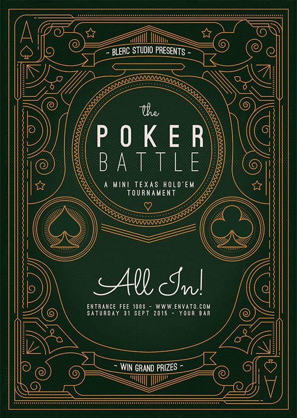 Flyer - Poster: The Poker Battle by blercstudio