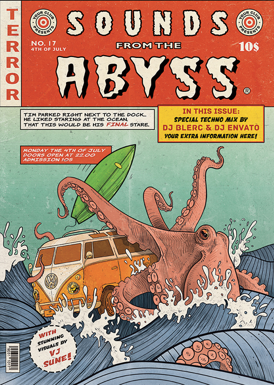 Flyer - Poster: Sounds From The Abyss by blercstudio