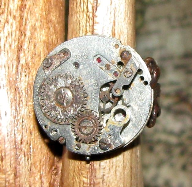 Steampunk rings by GraceCM
