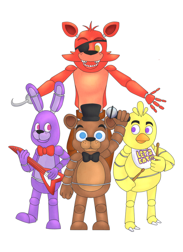 Freddy Fazbear and the Crew by SillyArtist