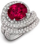 Rare Ruby And Diamond Ring