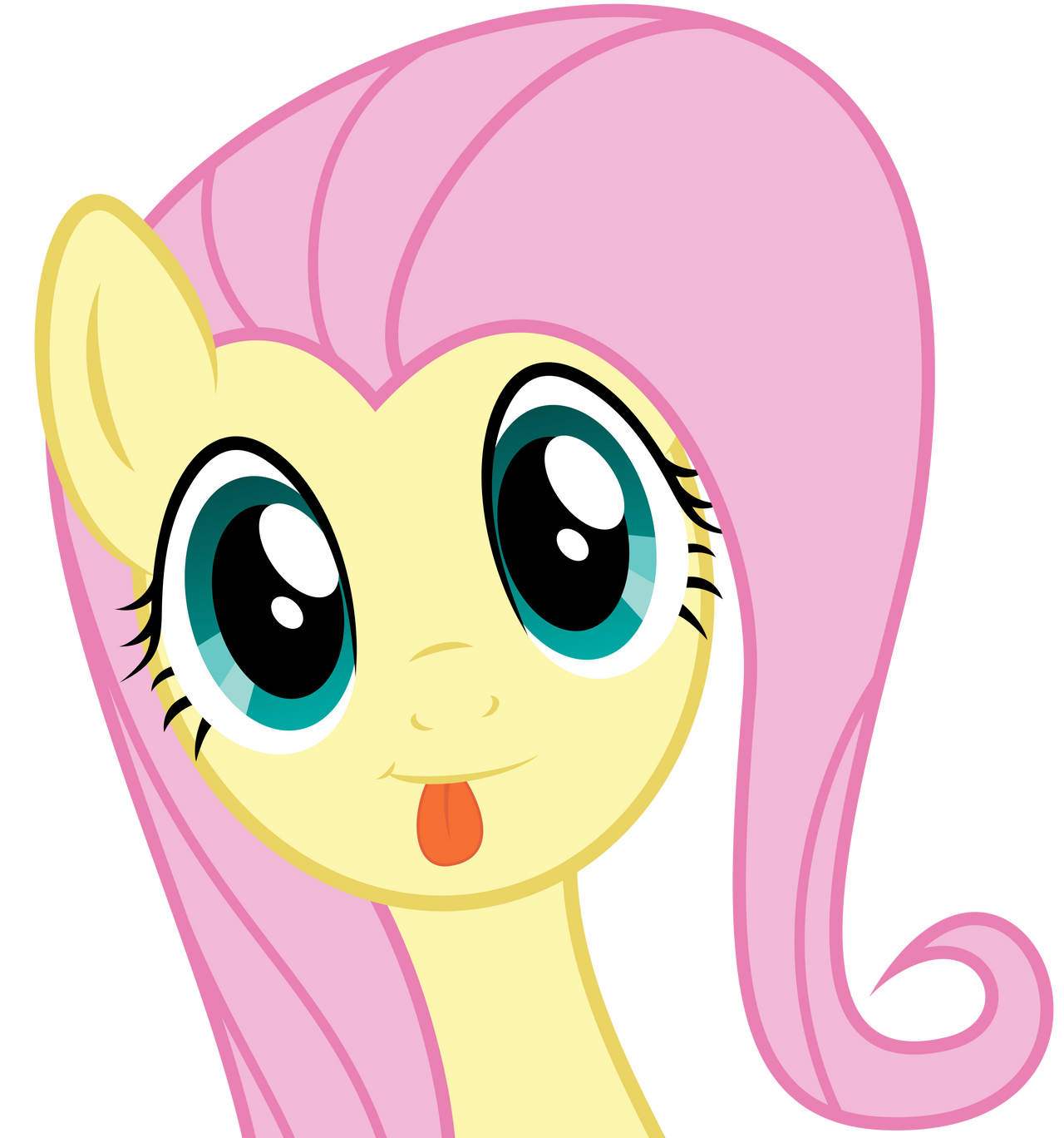 Fluttershy being cute [without Hoody] by Infinitoa