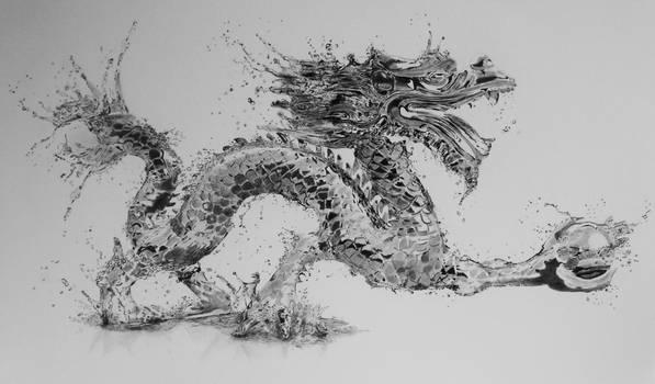 Water Dragon in pencil