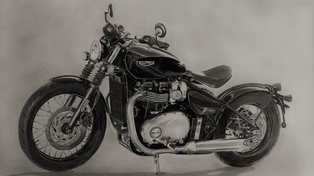 Triumph Bobber by Steve2656