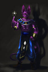 My Lord Beerus by latent-ookami