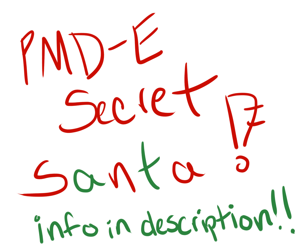 Secret Santa Questions Pmd-e secret santa updated