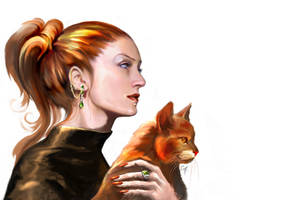 Witch and her Cat by Girhasha