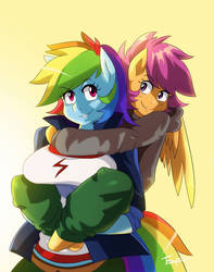 :MLP: Pegasisters by Traupa