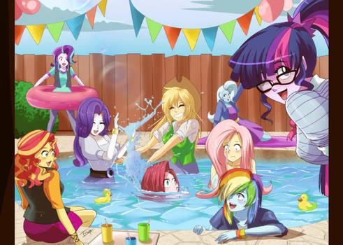 :COM: Pool day