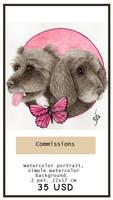 Commission info: 2 pets portrait