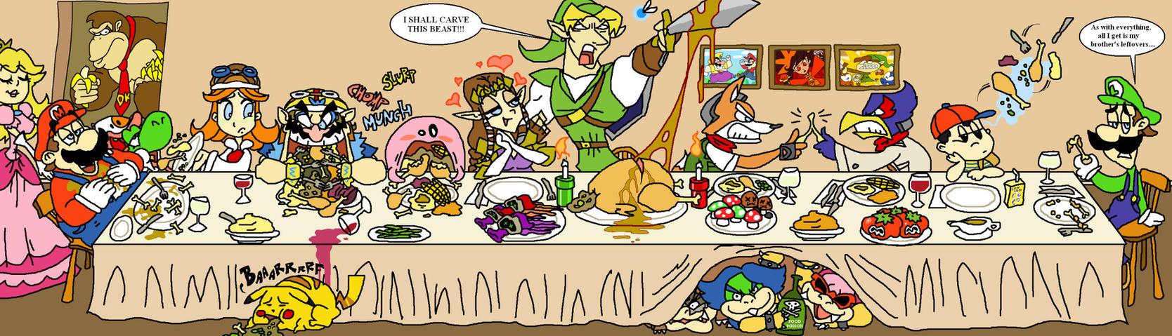 Thanksgiving with Nintendo by HoppyBadBunny
