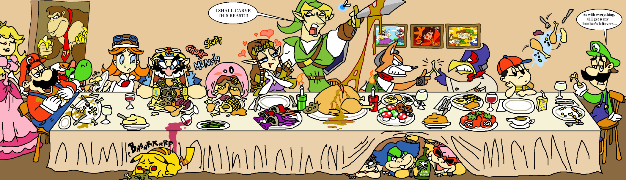 Thanksgiving with Nintendo by HoppyBadBunny