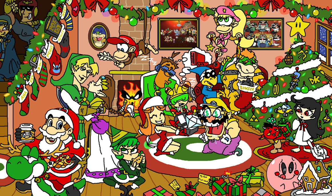 Christmas With Nintendo by HoppyBadBunny on DeviantArt