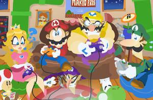 Mario Brawling by HoppyBadBunny