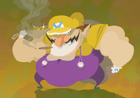 Badass Beefy Wario by HoppyBadBunny