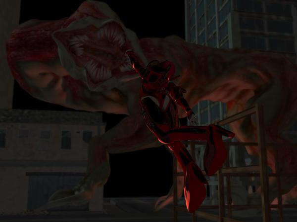 Shadowboxer: Mamori vs. the Cthuloid by dragongirlnoriko