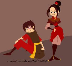 Azula and Zuko by lainchan