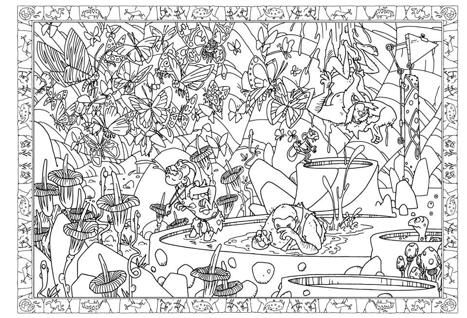 10 000 B.C. double page by tangraartbook