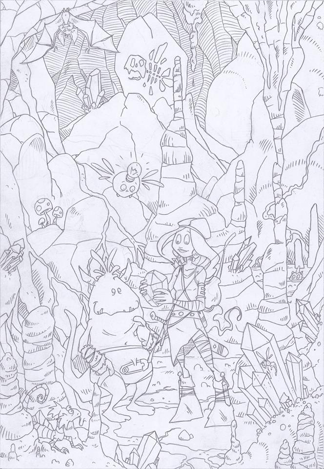 Viking Quest 2 cover - pencil by tangraartbook
